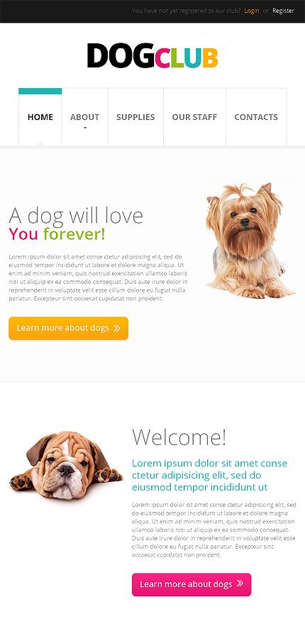 dog responsive website template web design templates website templates download dog. Black Bedroom Furniture Sets. Home Design Ideas