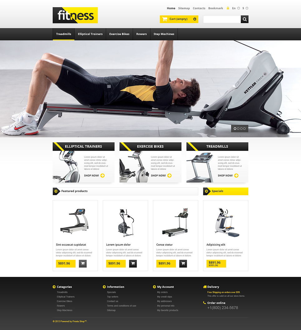 Healthy Responsive Fitness Store PrestaShop Theme