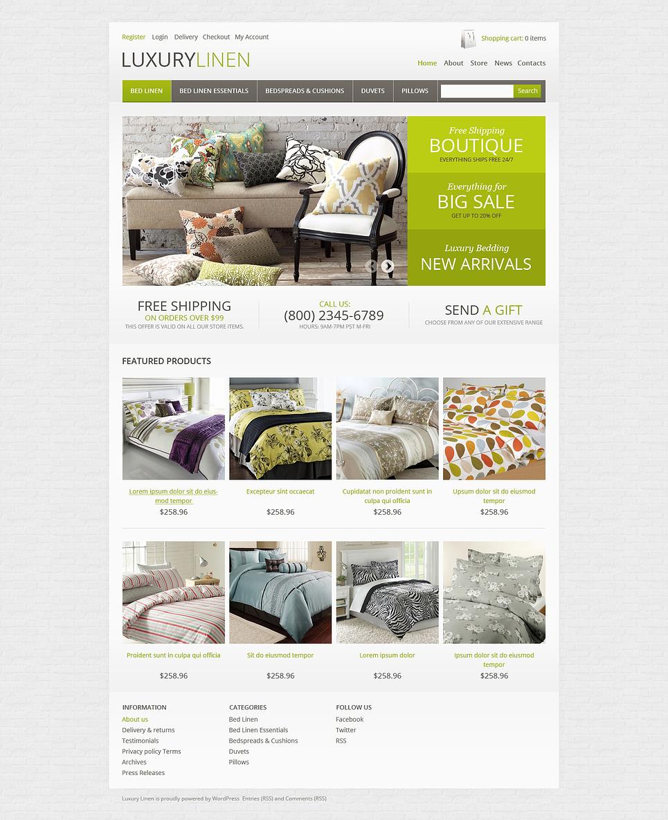 Superb Responsive Luxury linen Store JigoShop Theme