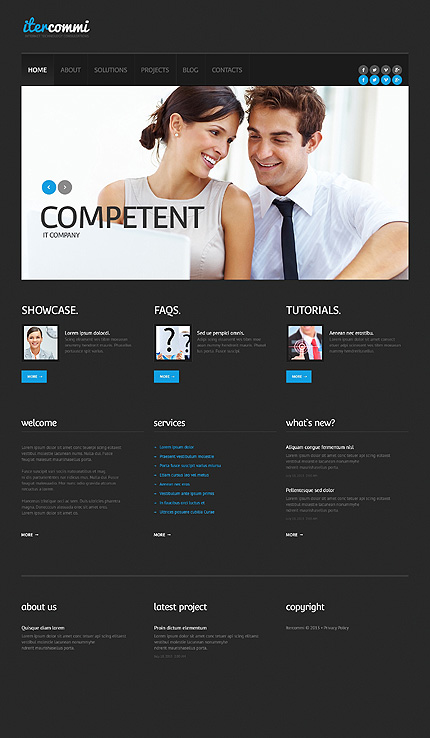 View live Demo for IT Consulting Company - Corporate Responsive WordPress Theme