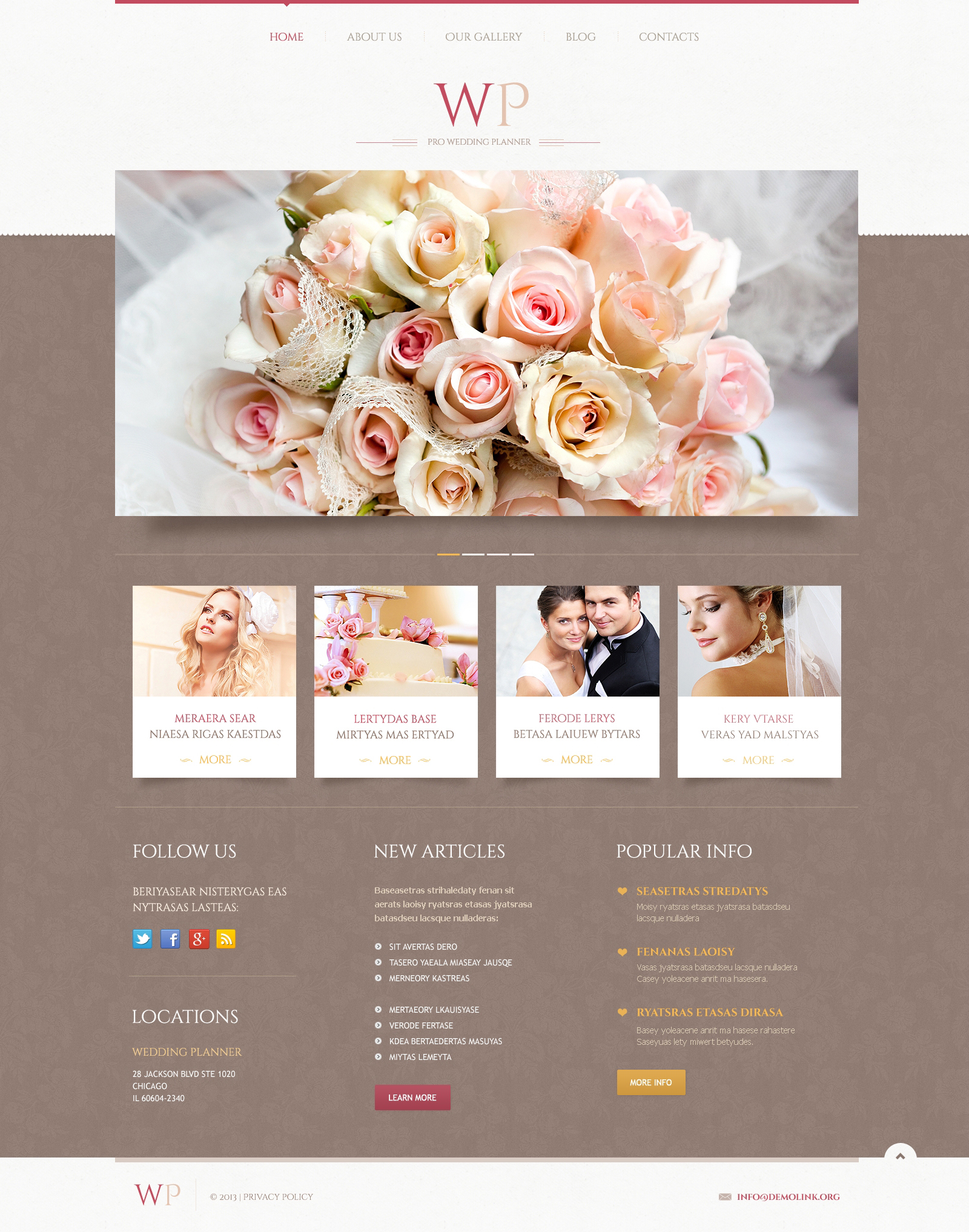 Tender wedding planner wordpress theme 45883 Planner websites