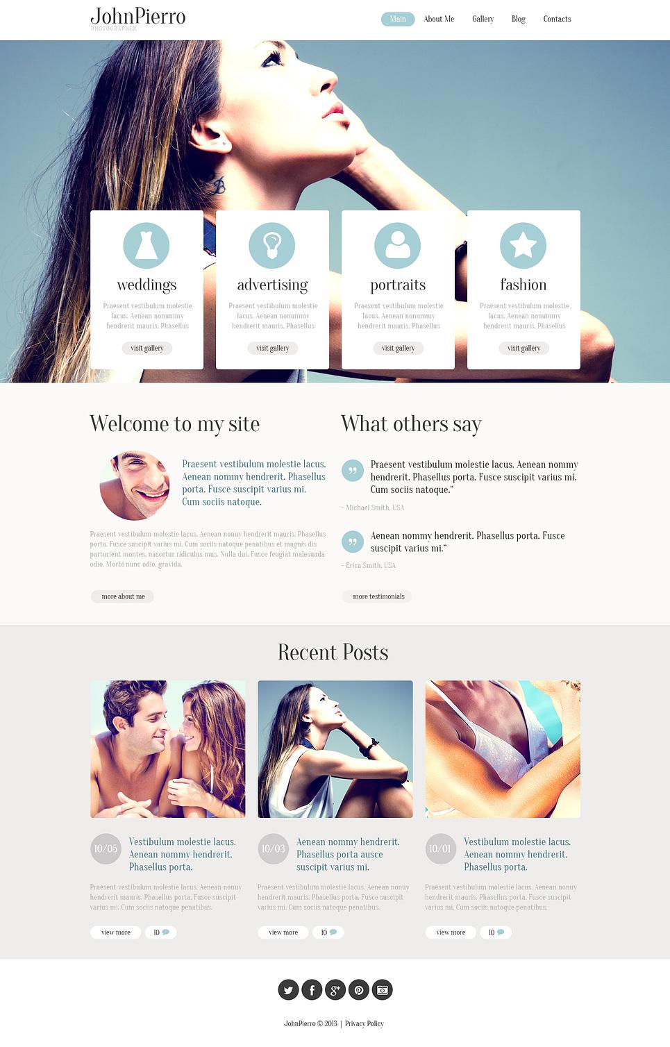Clean and Elegant Photographer WordPress Theme