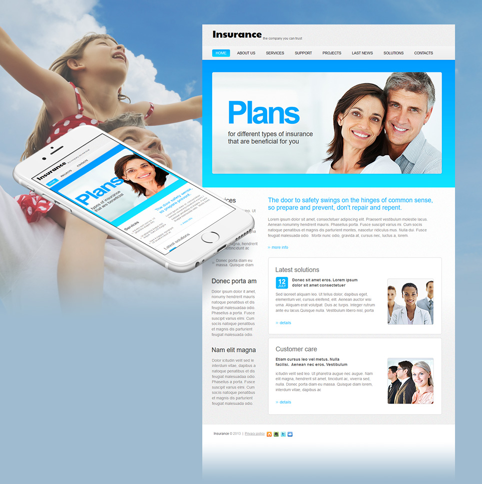 Simple Website Template for Insurance Agencies - image