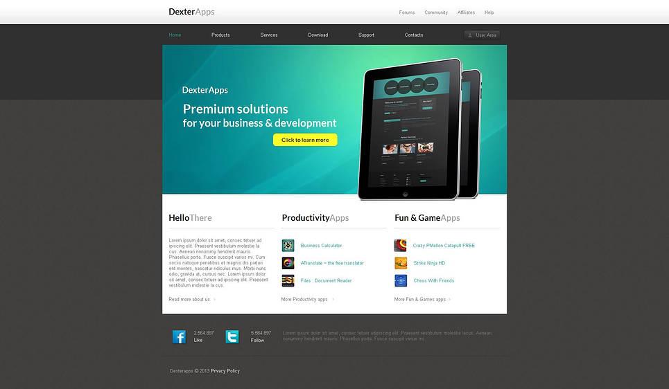 Сайт-визитка для разработчика мобильных приложений - image