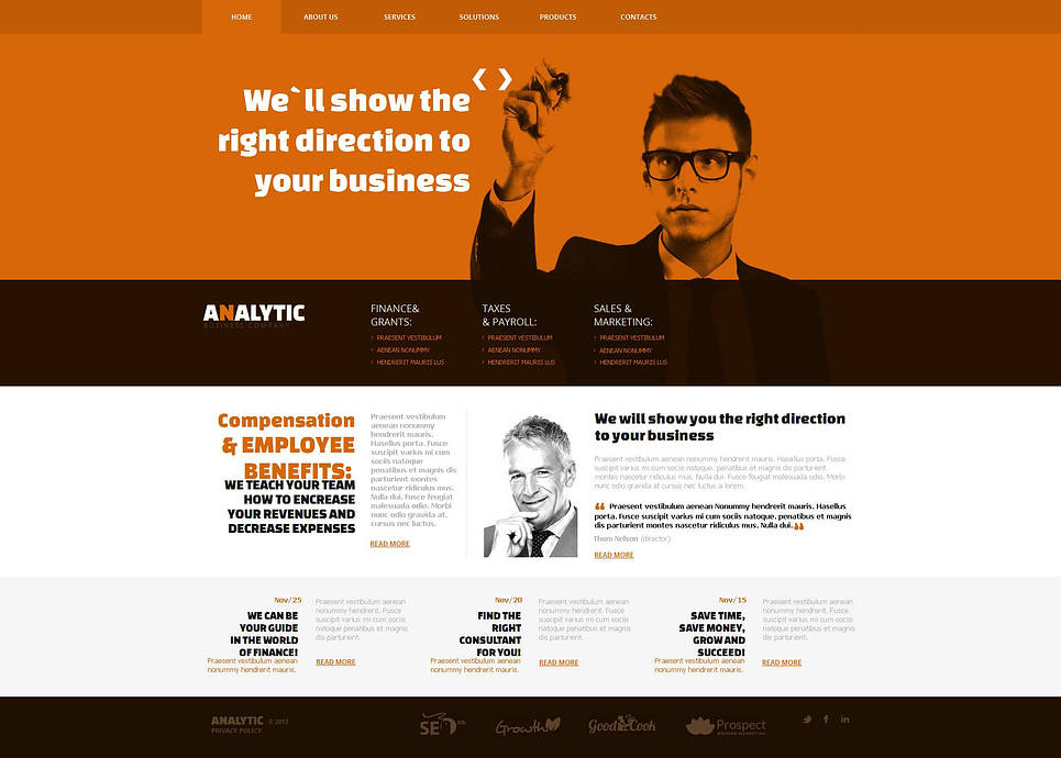 Financial Adviser Website Template with CMS - image