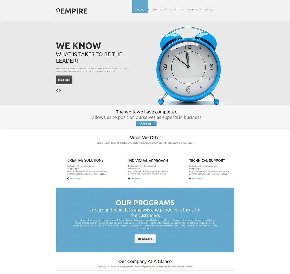Clearly Designed Business Template with a jQuery Image Slider - image