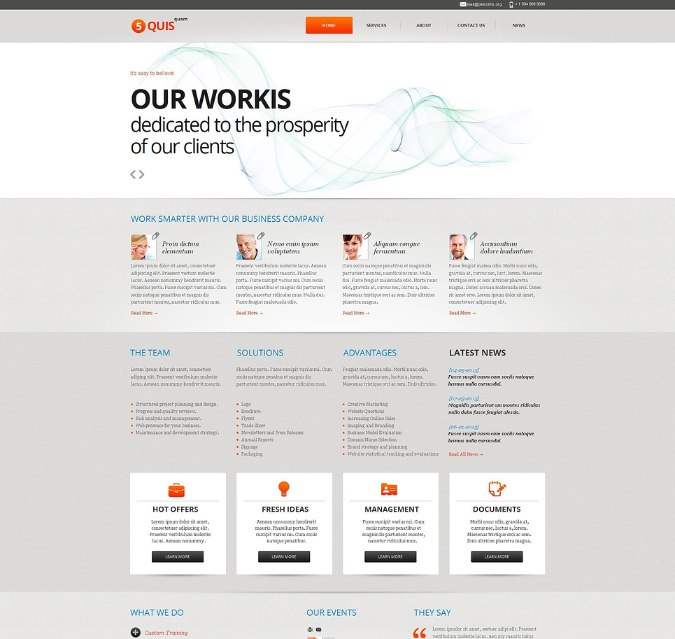 Marketing Agency Website Template Rich in Content - image