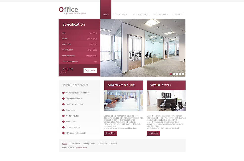 Business Website Template for Real Estate Agents - image