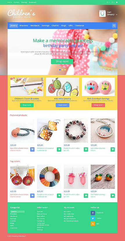 Children's jewelry store - Sparkling Online Jewellery Store PrestaShop Theme