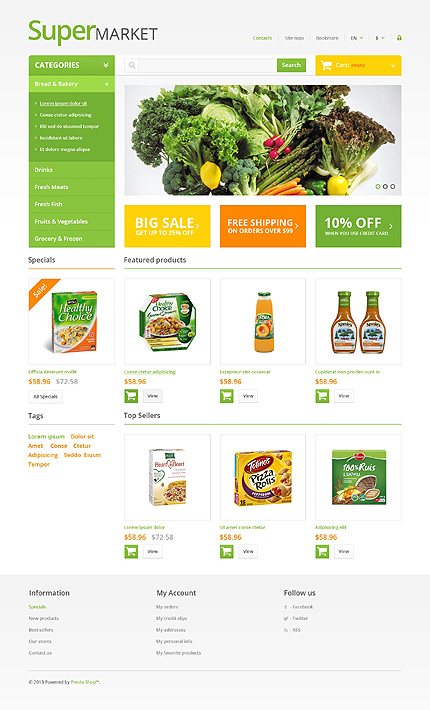 Super market - Superb Grocery Store PrestaShop Theme