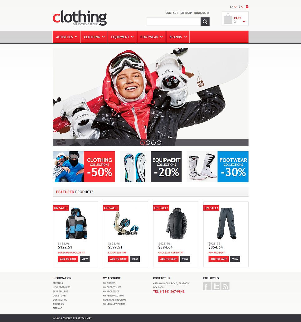 Fresh Responsive Clothing Store PrestaShop Theme