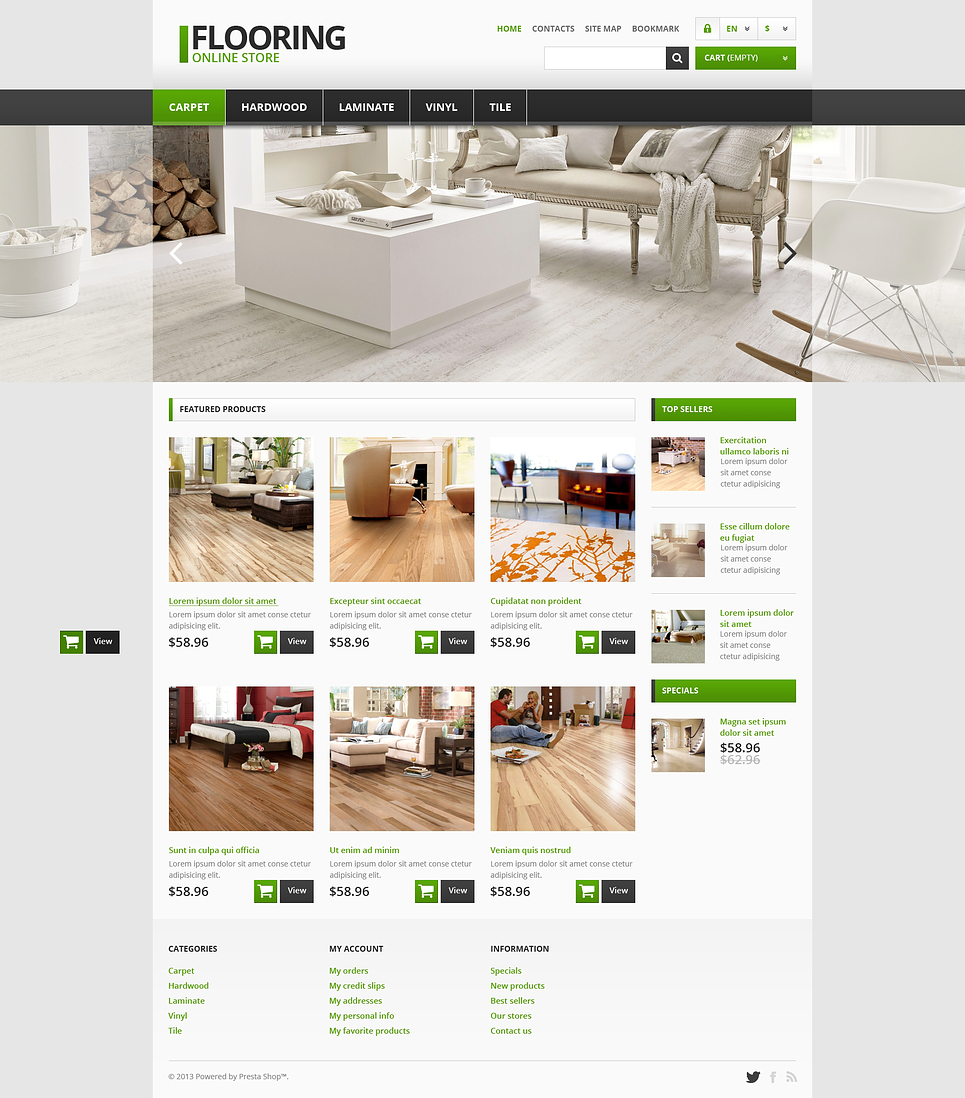 Pensive Flooring Store PrestaShop Theme