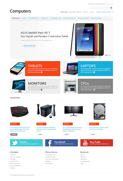Computers - Startling Computer Store Magento Theme