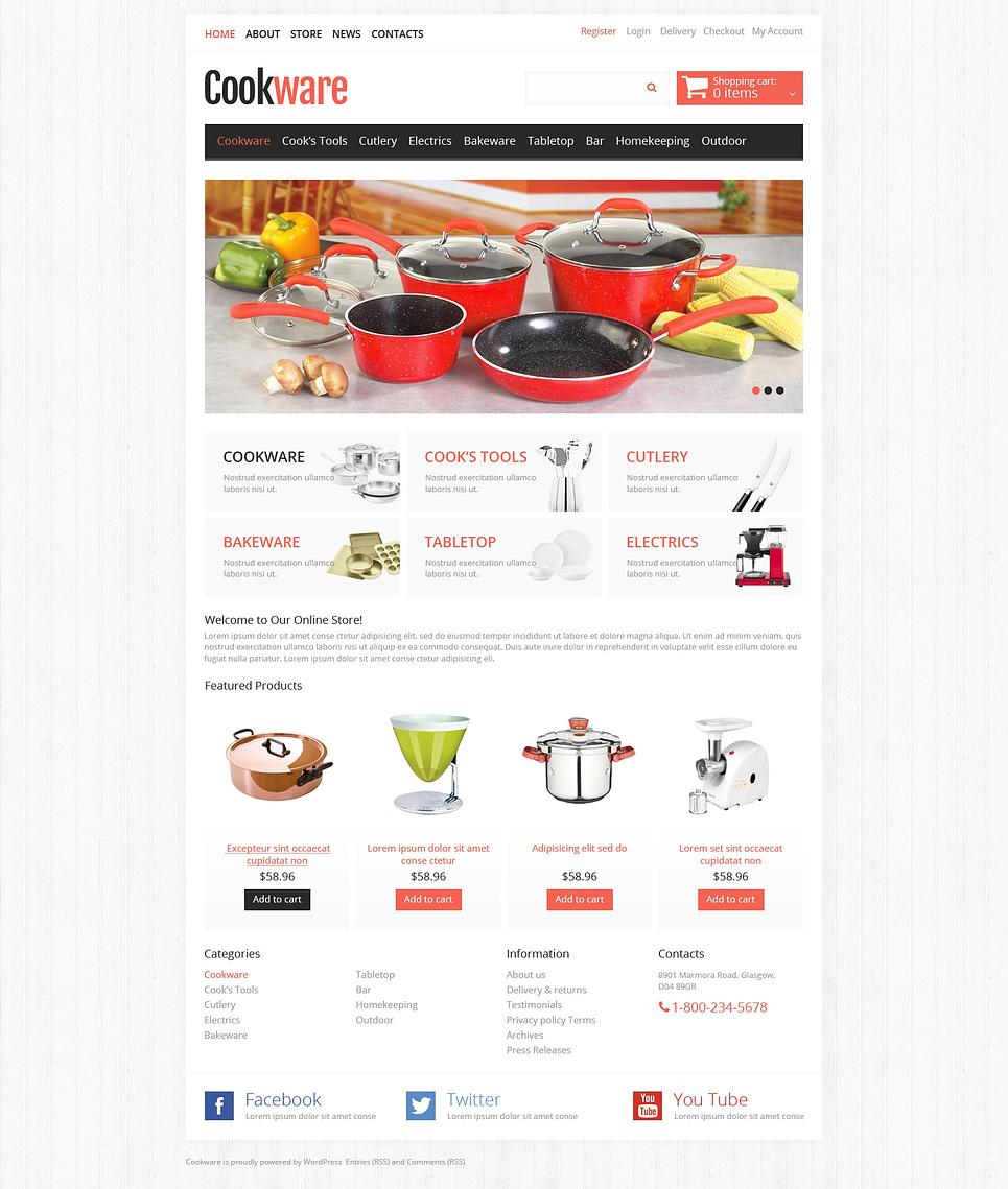 Effective Responsive Cookware Store JigoShop Theme
