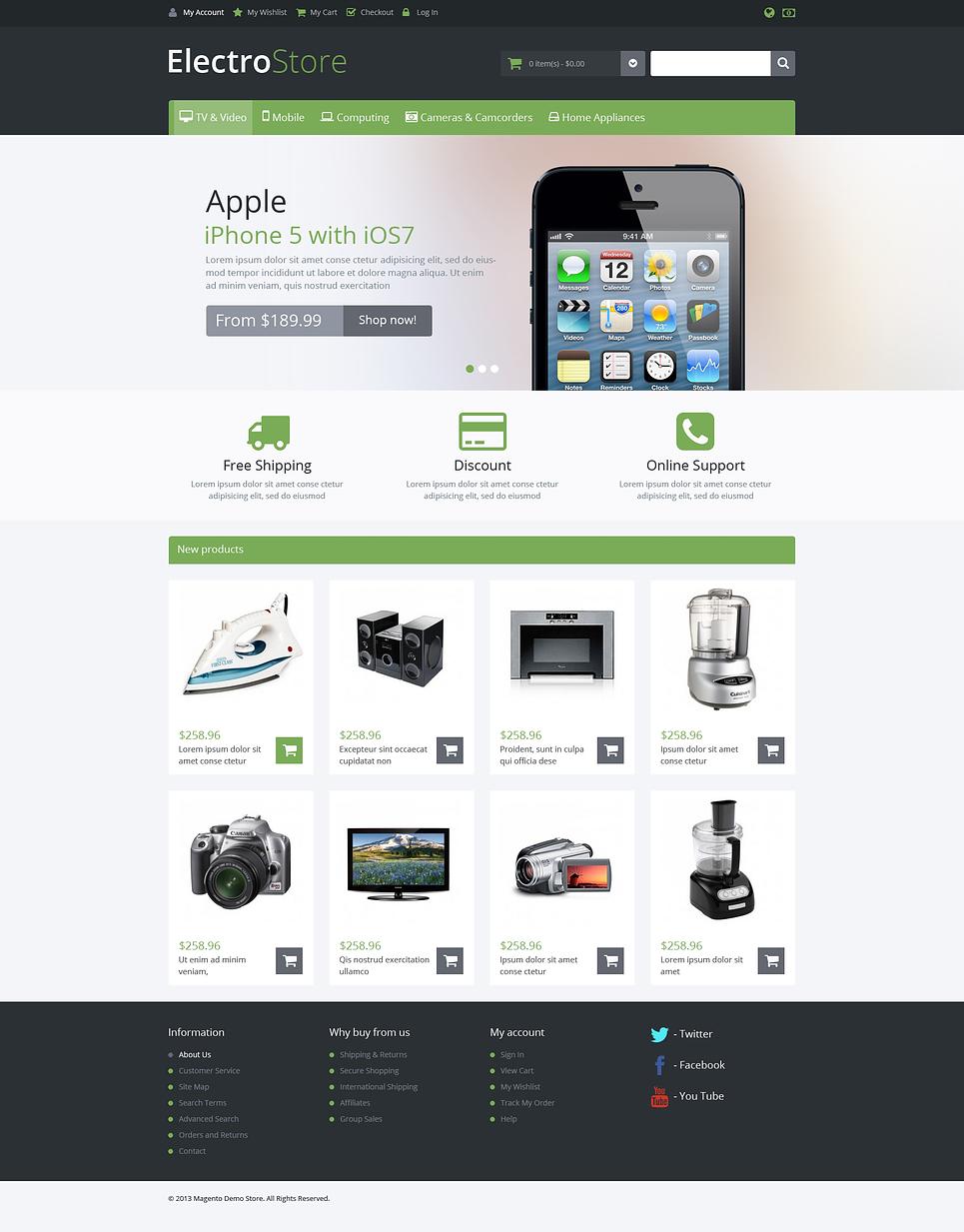 Responsive Electro Store Magento Theme New Screenshots BIG