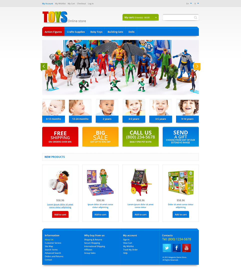 Ultimate Responsive Toys Store Magento Theme