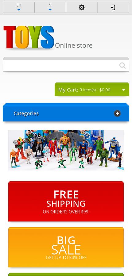 Responsive Toys Store Magento Theme Web Design Templates