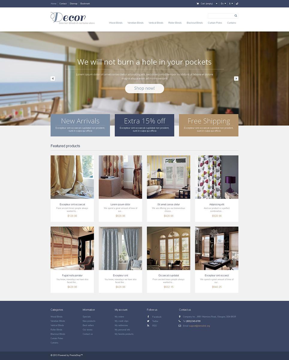 Elegant Responsive Decor Store PrestaShop Theme