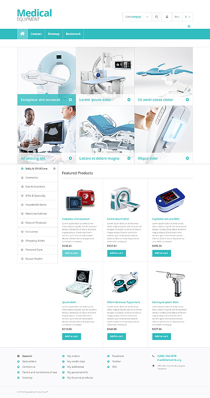 Medical equipment - Efficient Responsive Medical and Pharmacy Store PrestaShop Theme