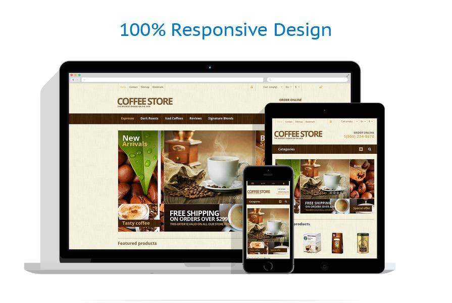 Responsive Coffee Store PrestaShop Theme