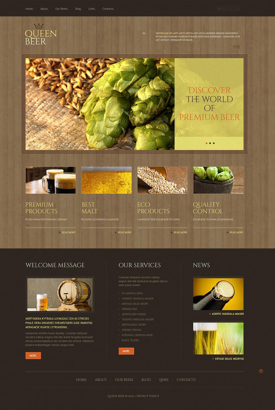 Queen Beer - Best Responsive WordPress Brewery Theme