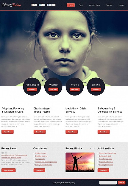 Charity - web templates - Page. 1