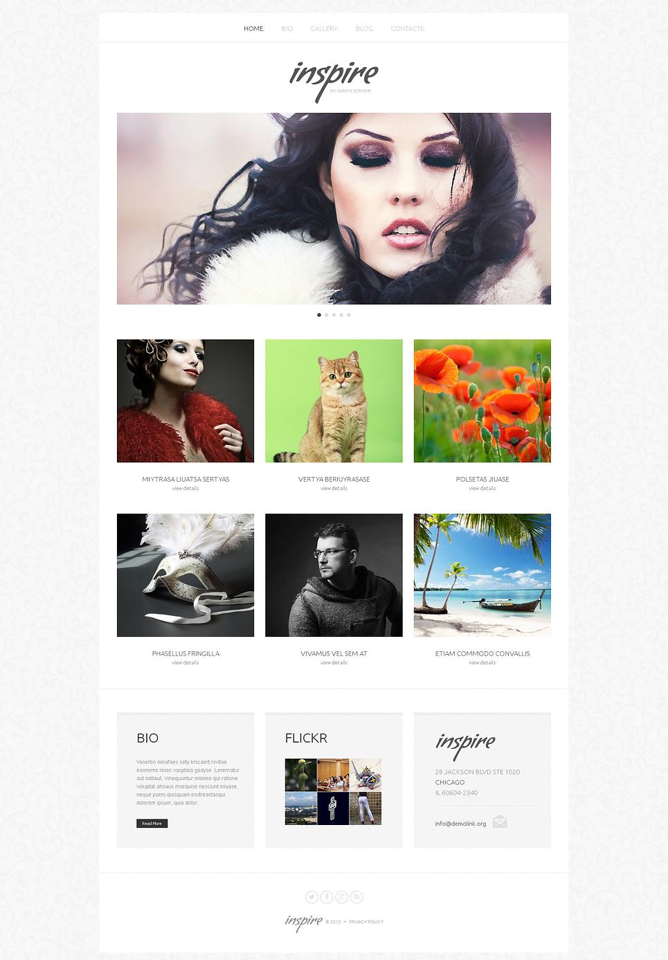 Artist WordPress Portfolio Theme