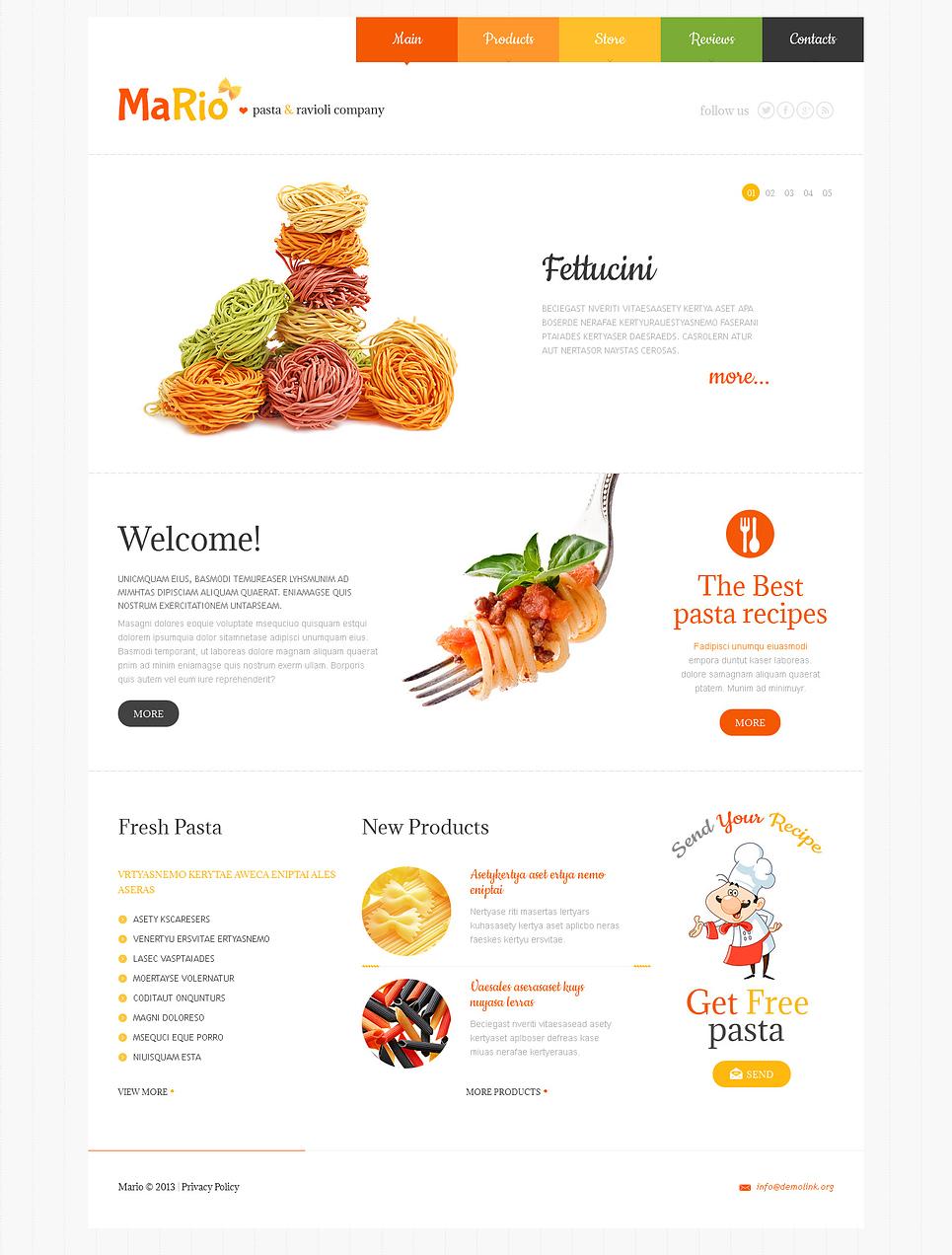 Crunchy Food Store Responsive Joomla Template