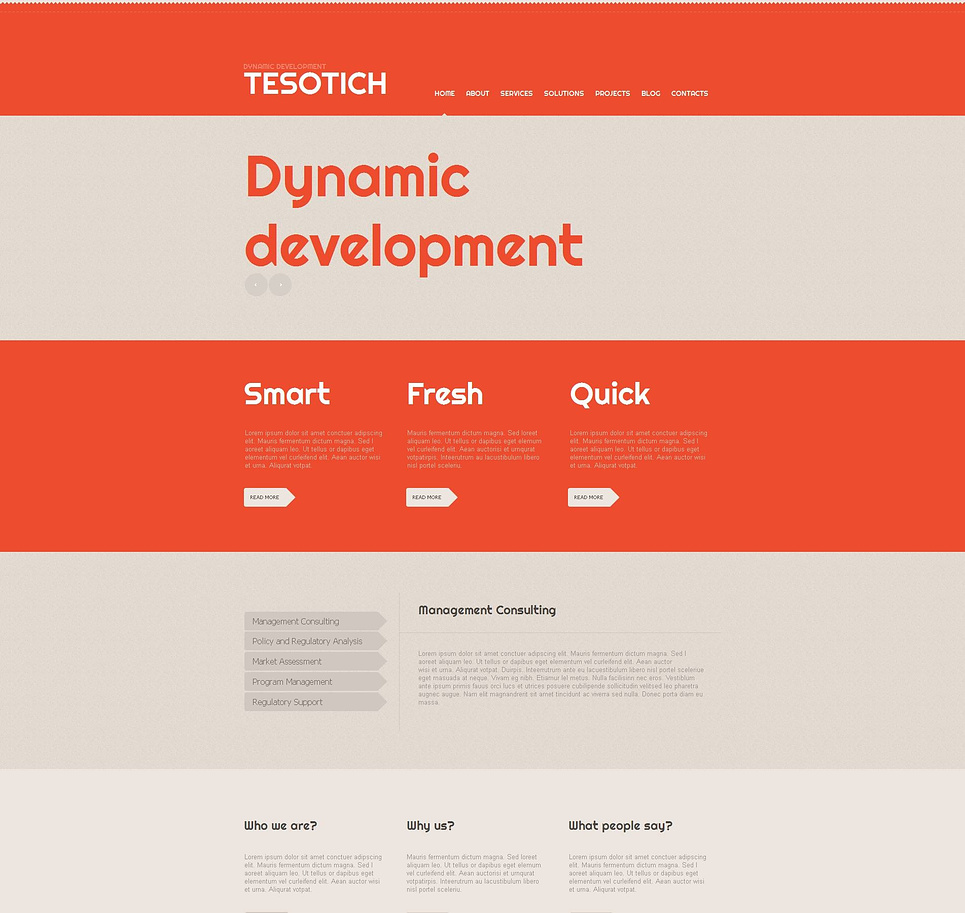 Rich Website Template for IT Business - image