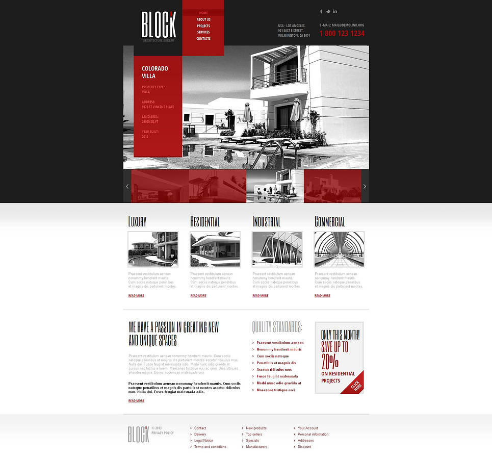 Architecture Website Template with Creative Content Slider - image