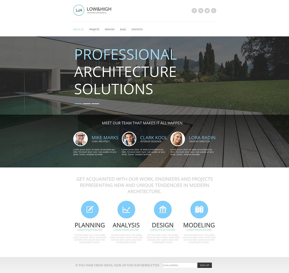 Construction Company Template with an Awesome Home Page Layout - image