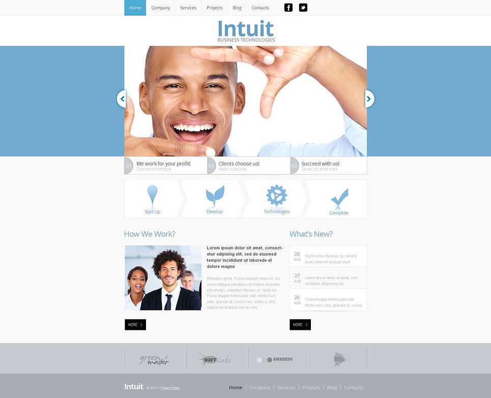 Management Website Template with jQuery Slider - image