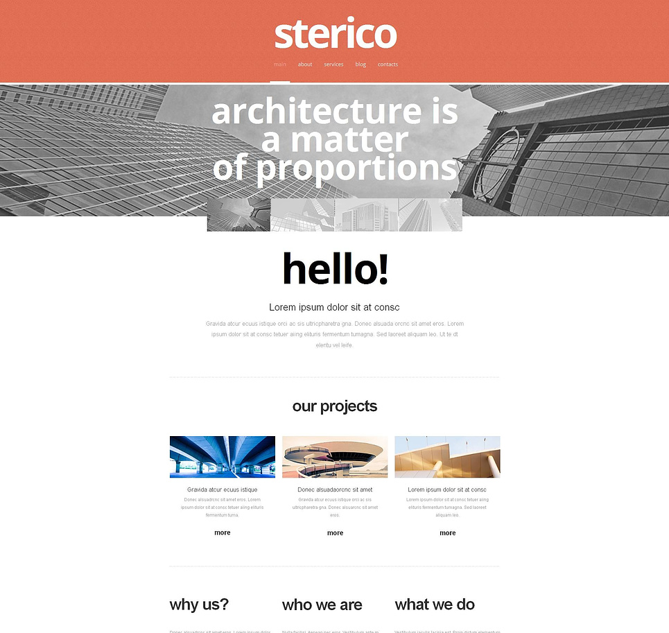 White Web Template for Architecture Bureaus - image
