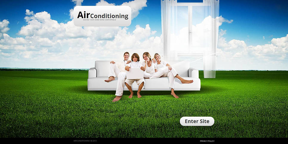 Air Conditioning Systems Website Template with a Splash Page - image