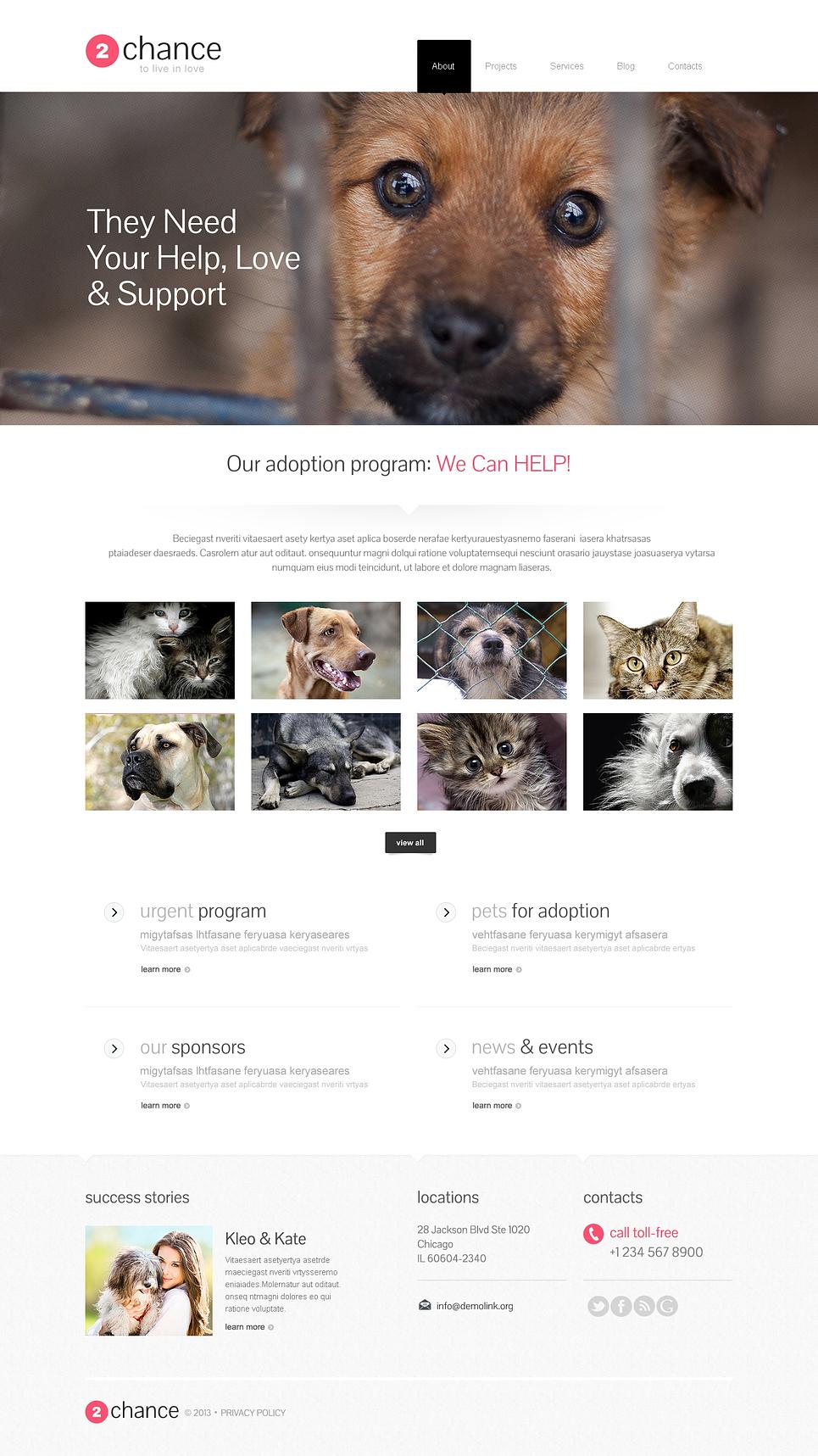 Chance - Impressive Responsive Animal Shelter WordPress Theme