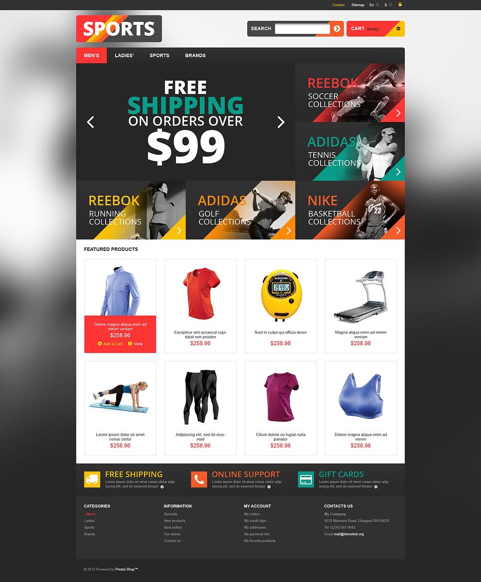 Stunning Responsive Sports Store PrestaShop Theme