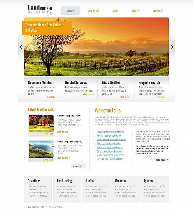 Simple Website Template for Brokers - image