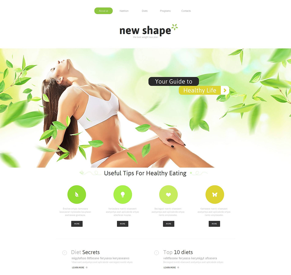 Weight Loss Website Template for Healthy Life - image