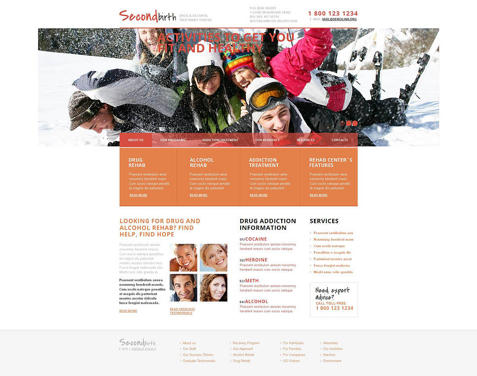 Reinforcement Therapy Website Template with White Background - image