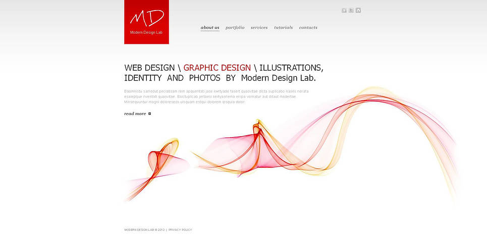 Web And Graphic Design Studio Template - image