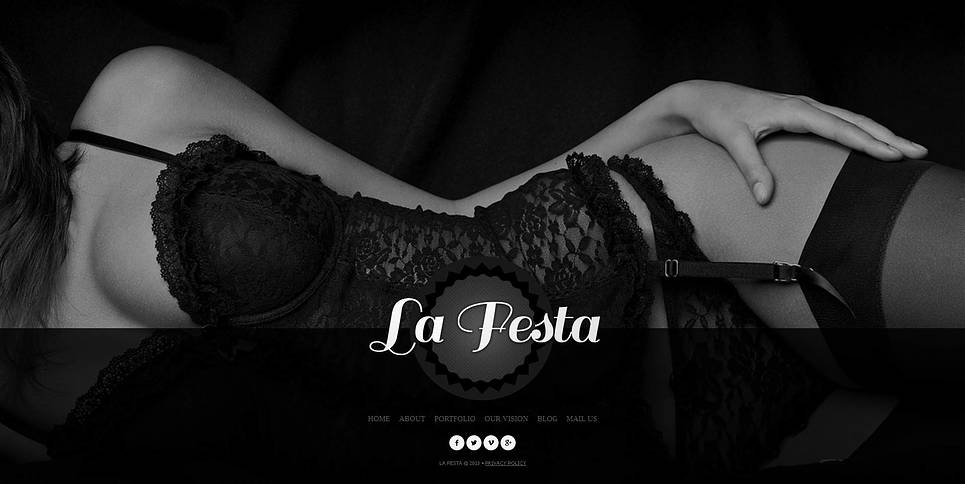 Fashion Lingerie Website Template with a Photographic Background - image
