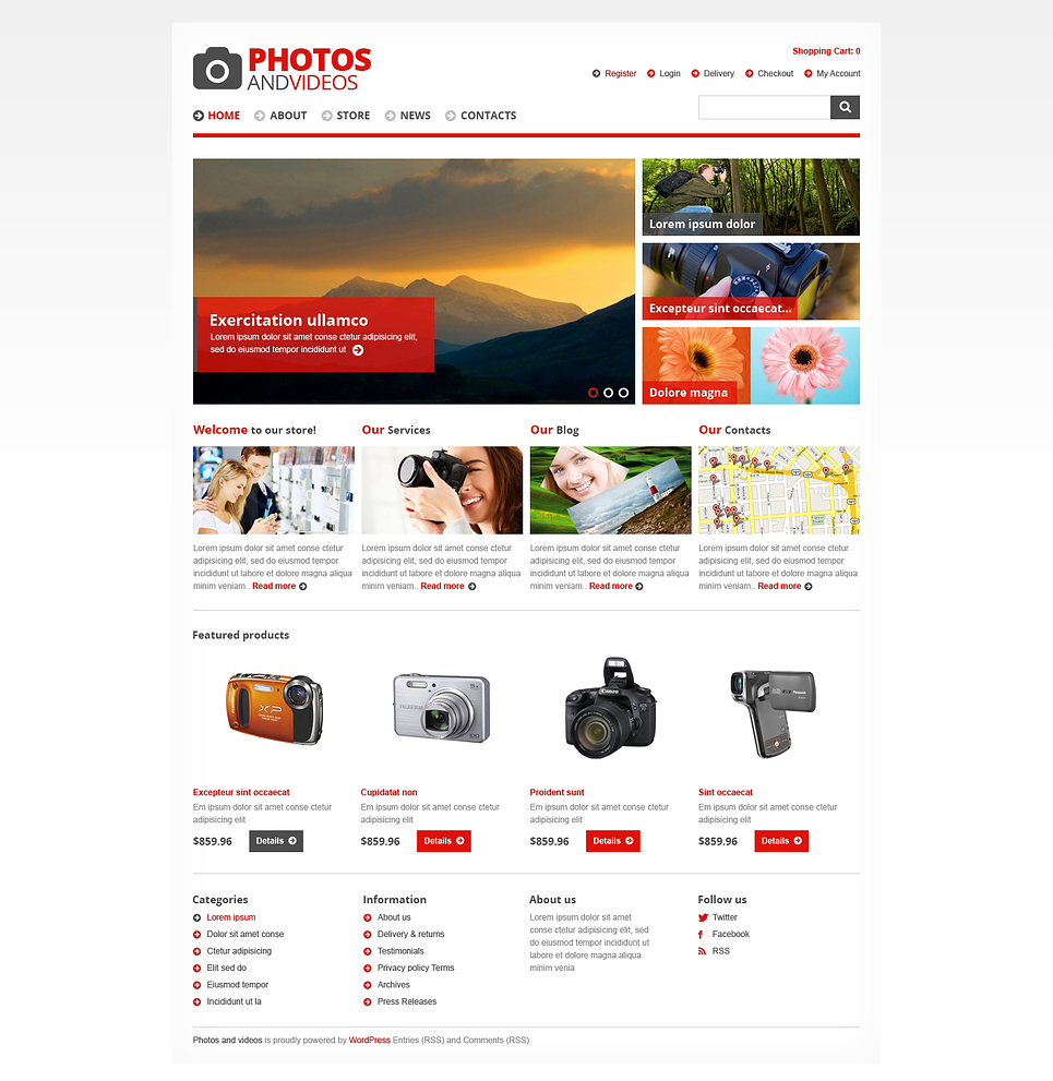 Photos and videos - Ultimate Photos and Videos Store Responsive JigoShop Theme