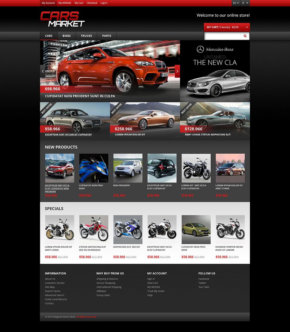 Astonishing Responsive Cars Market Magento Theme