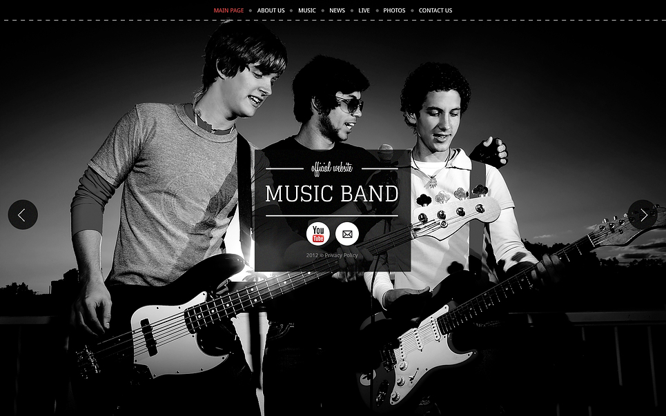 music band wix website template 46255. Black Bedroom Furniture Sets. Home Design Ideas
