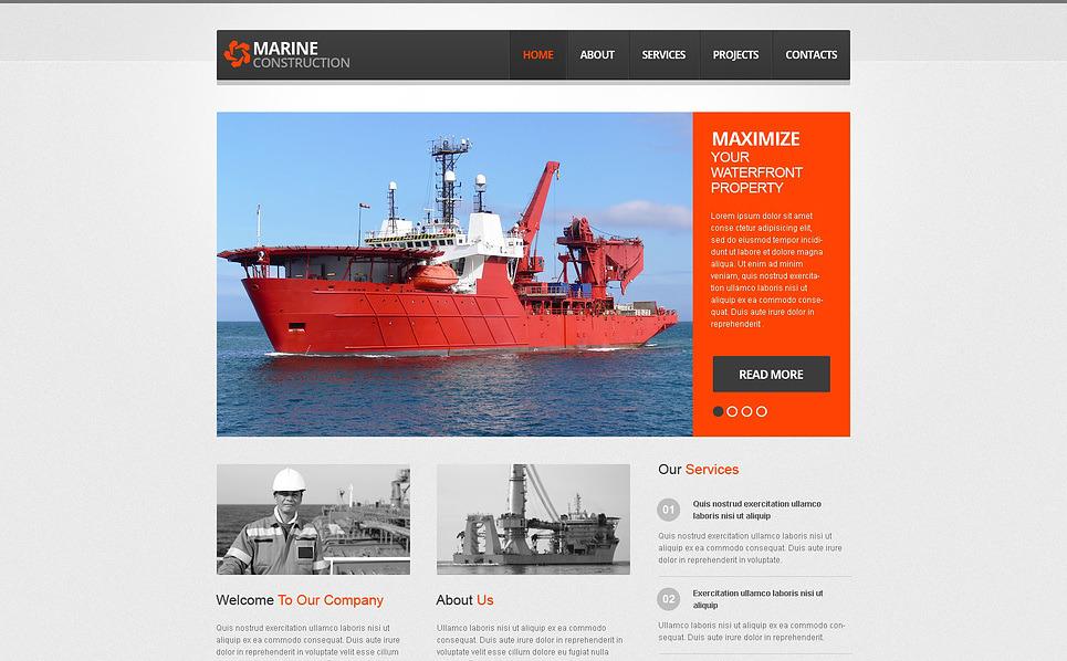 marine company wix website template 46258. Black Bedroom Furniture Sets. Home Design Ideas