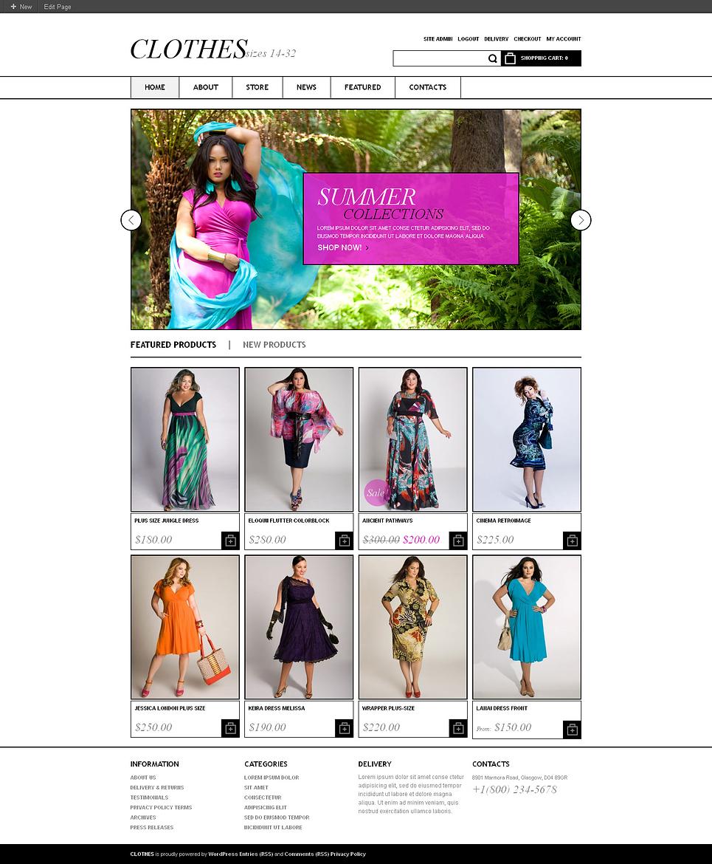 Clothes - Fashionable Responsive Fashion Apparel Store Jigoshop Theme