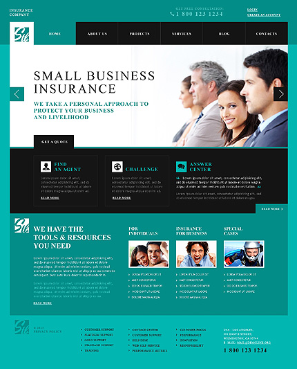 View live Demo for Small Insurance Company - Corporate Responsive WordPress Theme