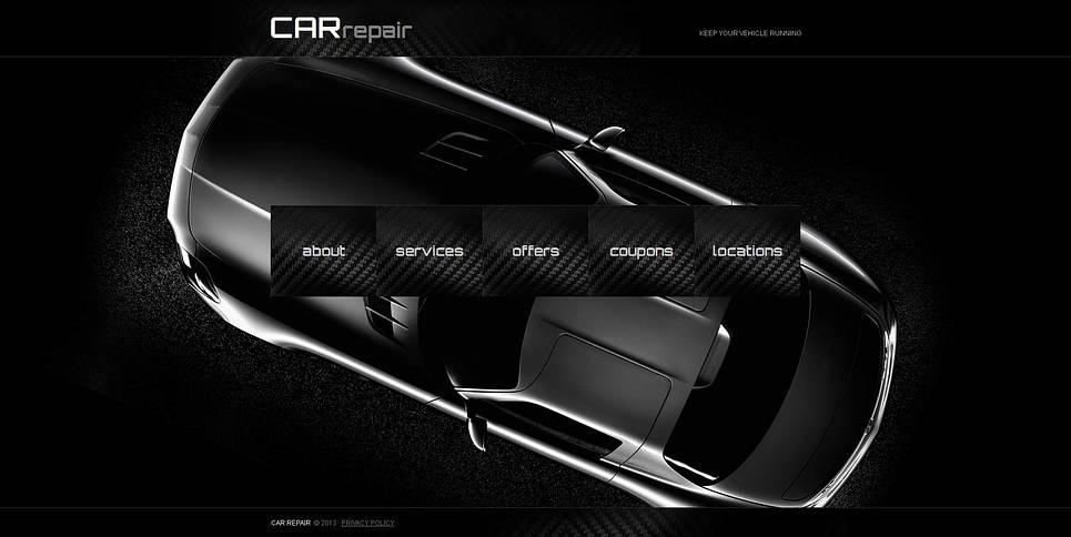 Dark Website Template for Car Repair Centers - image