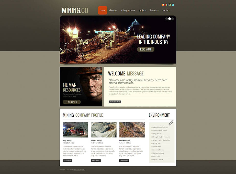 Mining Website Template for Industrial Companies - image