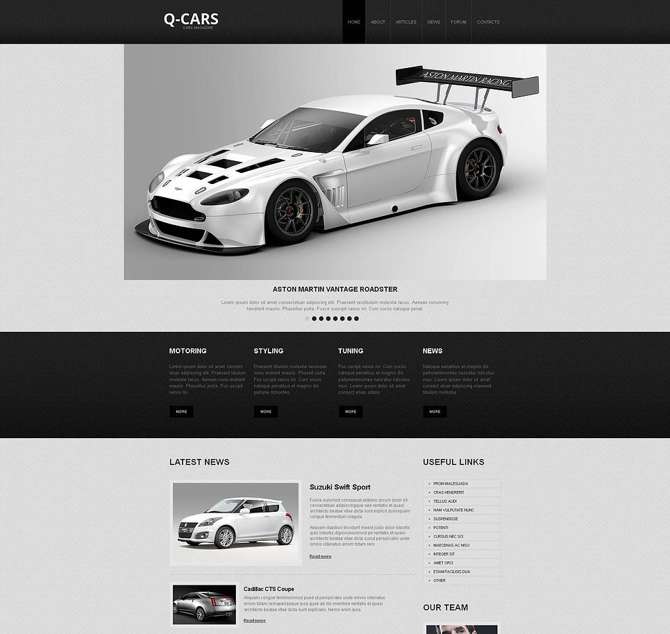 Car Dealer Website Template Designed in Black and Gray - image